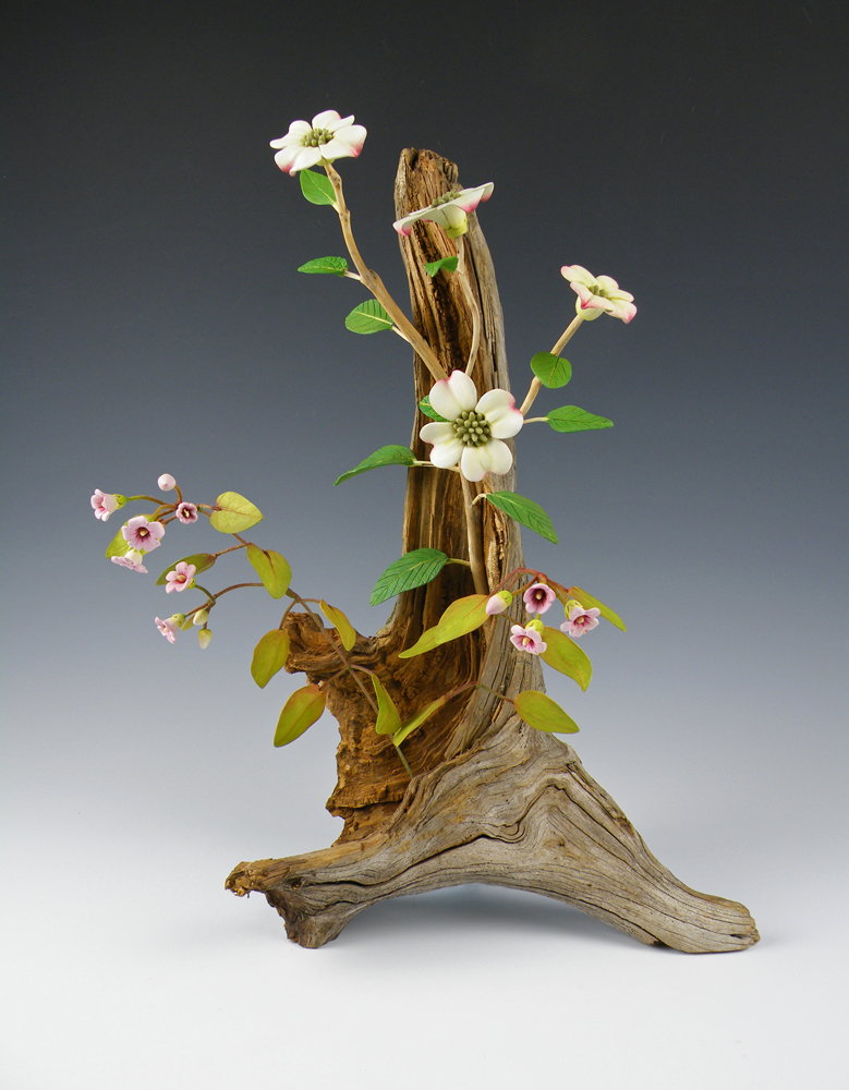 Renee Adams, Ikebana: Dog, mixed media
