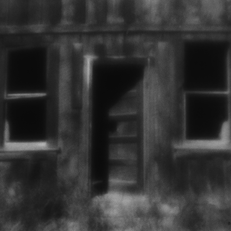 Jane Allyn, Bodie's Open Door, zone plate photograph, gelatin silver print