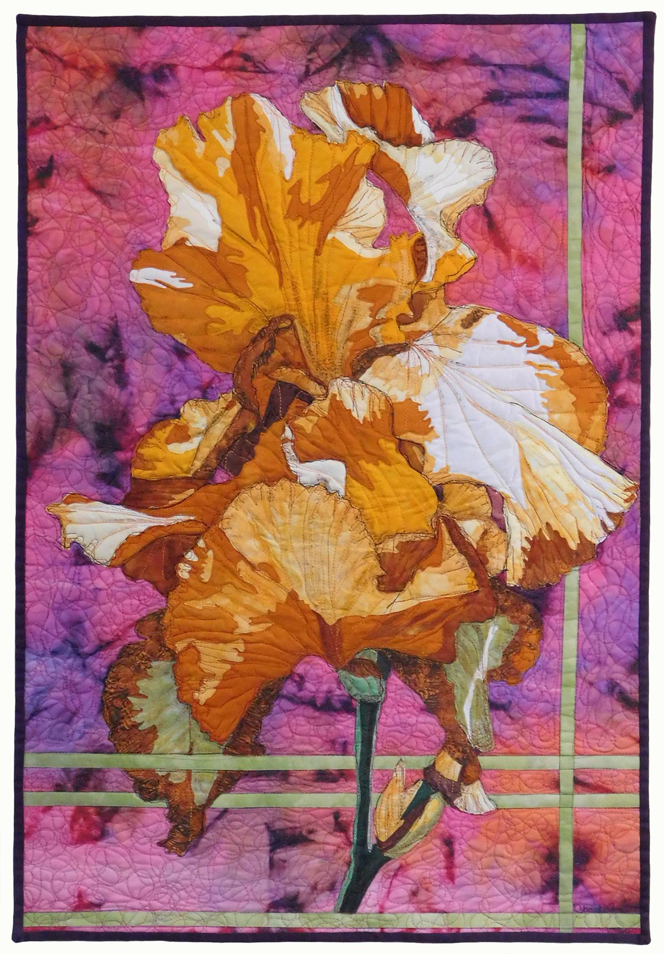 Deborah Ann, Golden Iris, hand-dyed fabrics