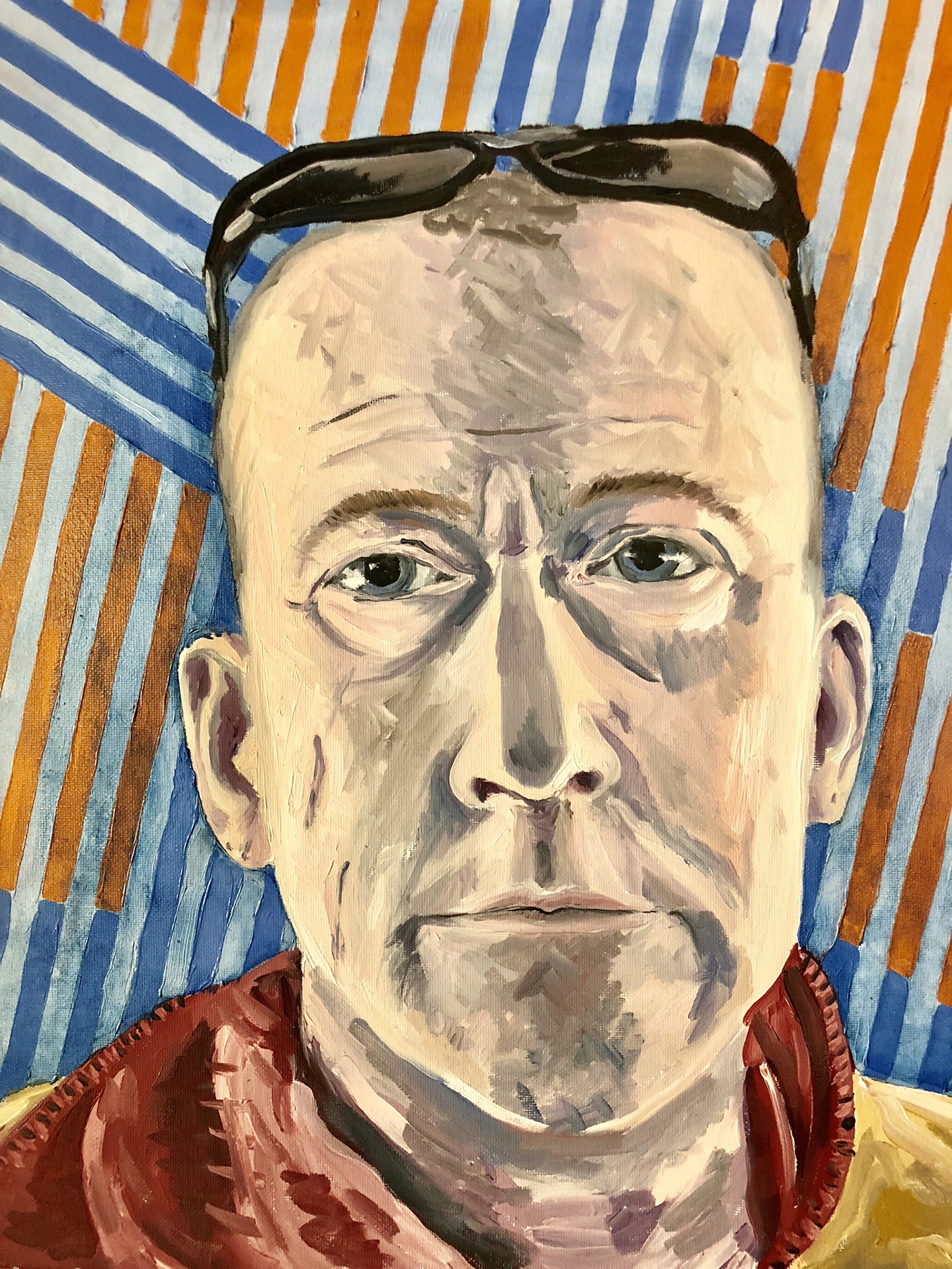 Matt Johnson, Self Portrait #47, oil