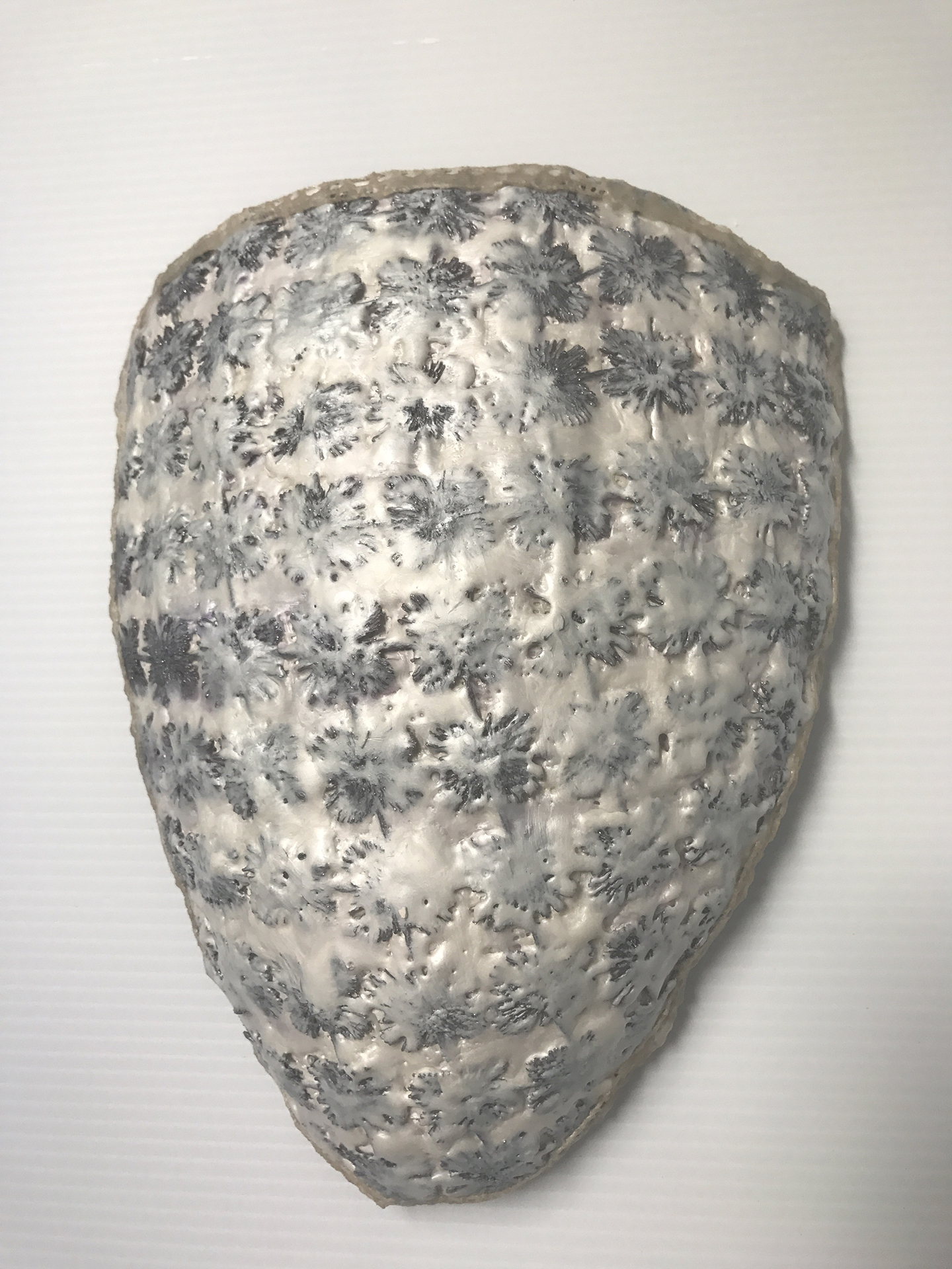 Deborah Kapoor, Shield, fiber, encaustic