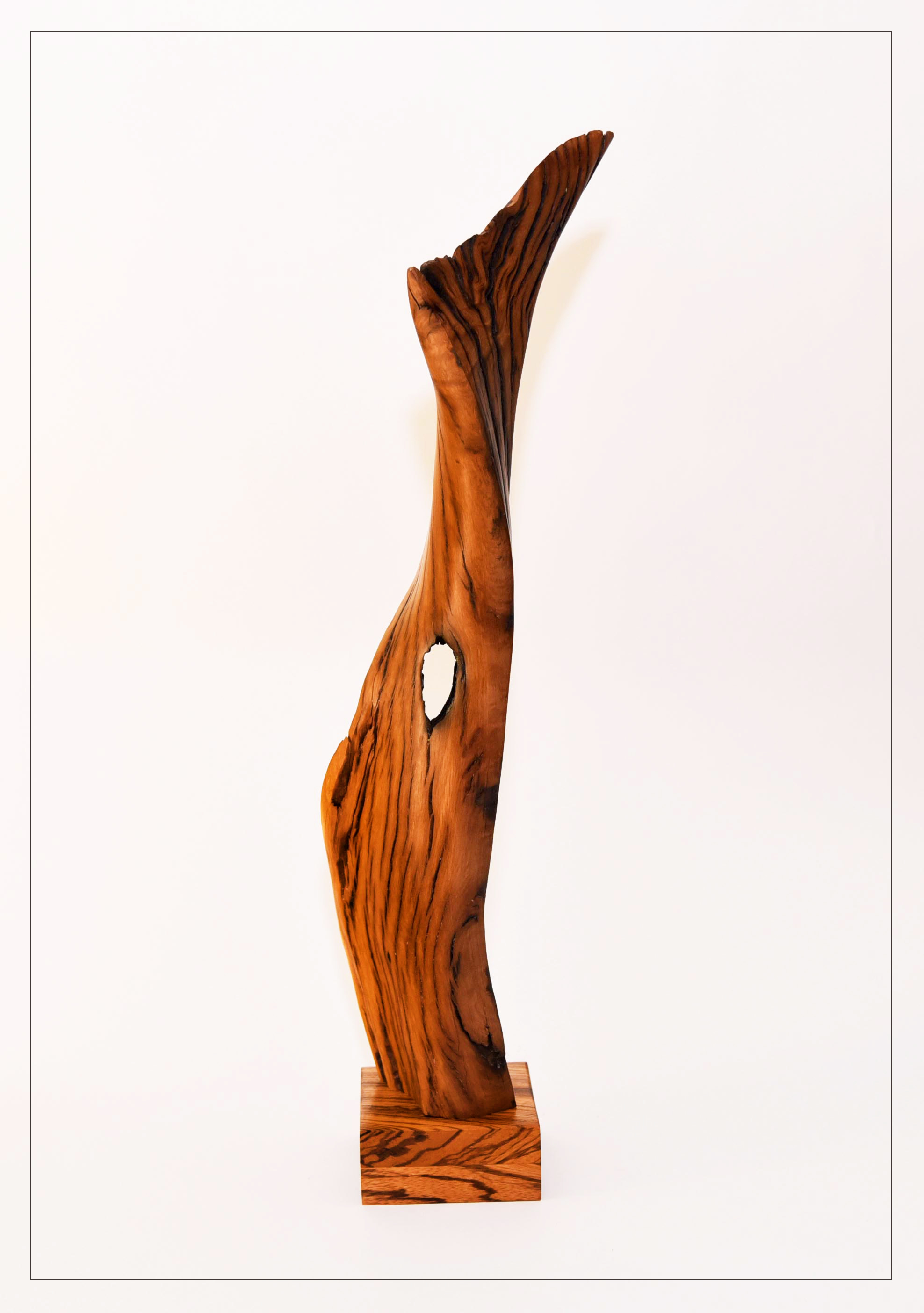 Randal Leek, Untitled, holm oak, zebra wood