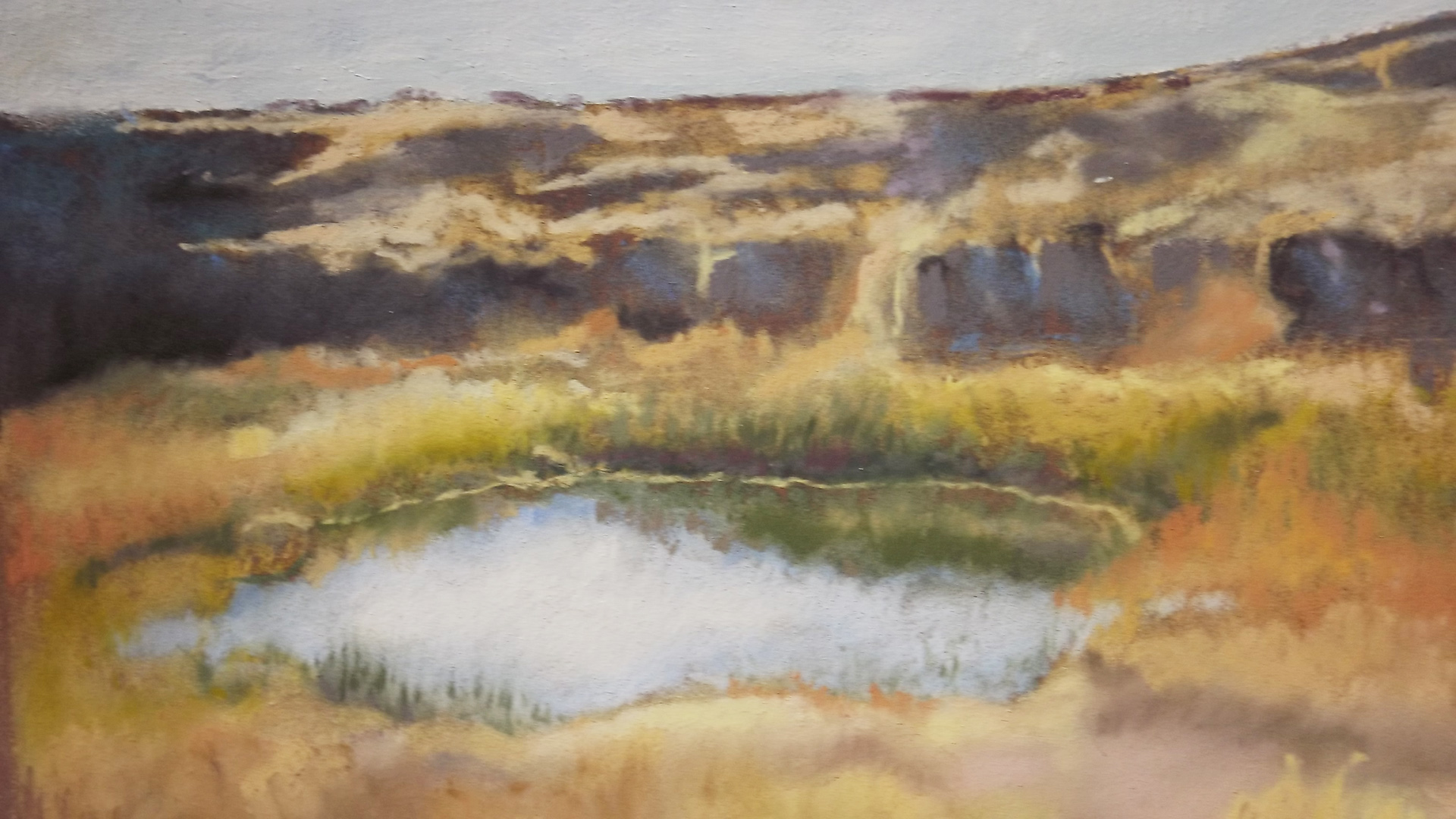Kathy Murray, Inviting Pothole, soft pastel