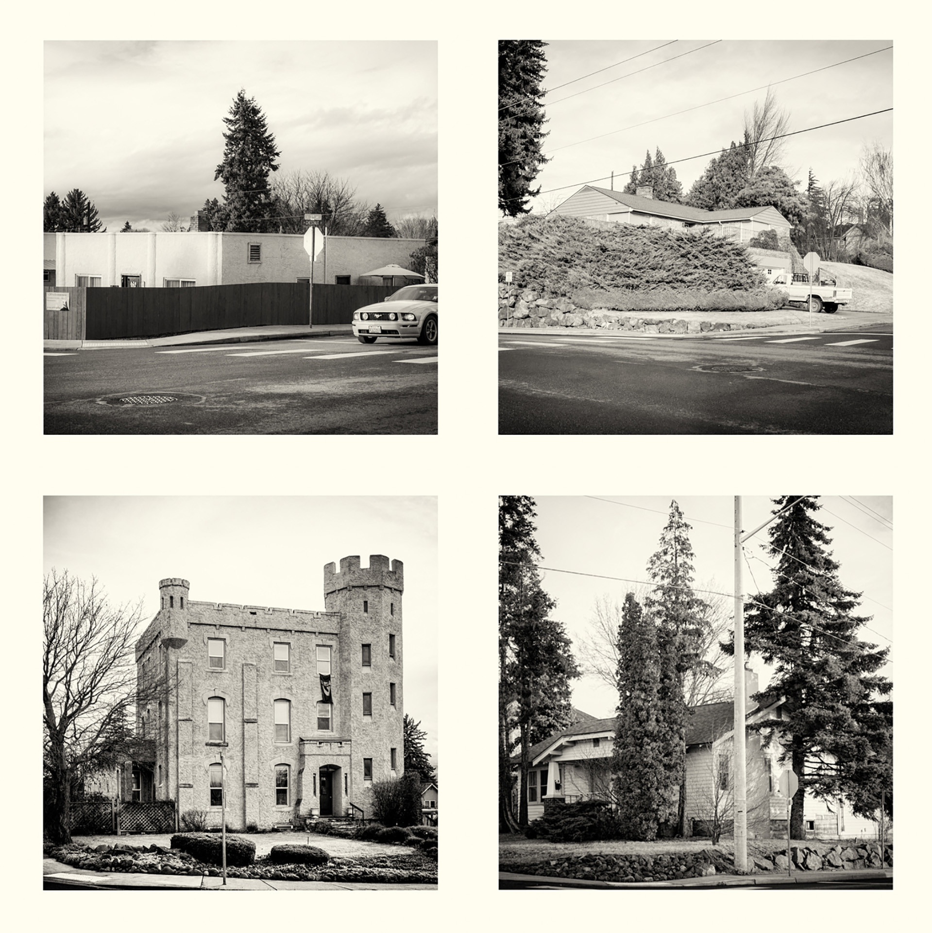 Skip Smith, The Four Corners of Chestnut and 3rd, Ellensburg, photograph
