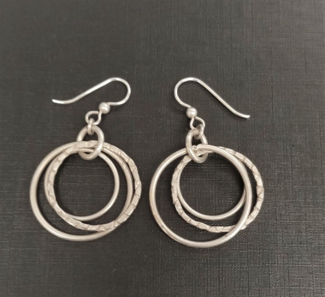 Jodi Hoctor, Sterling Circle Earrings