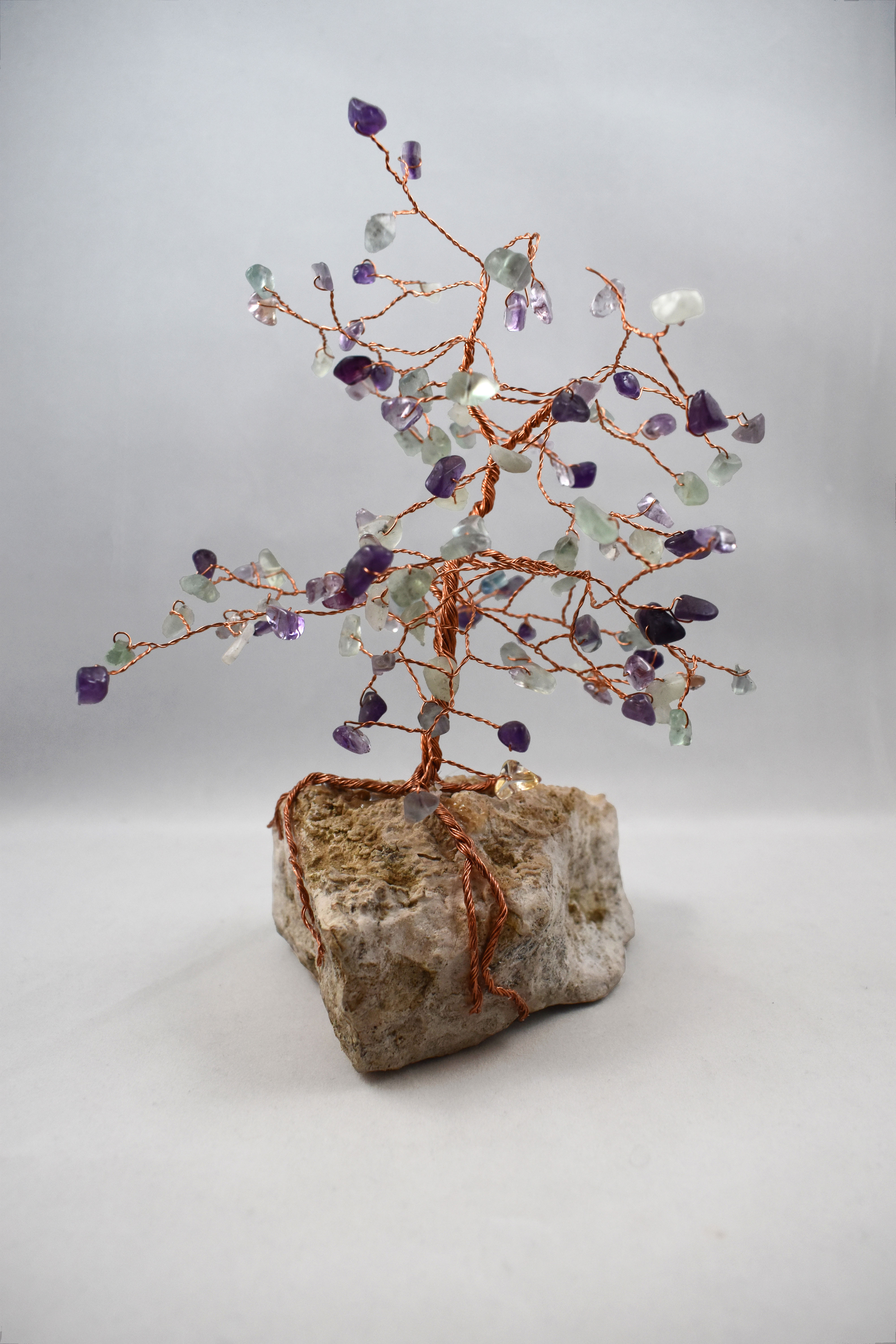 Kathleen O\\\'Brien, Fluorite and Amethyst Wire Tree