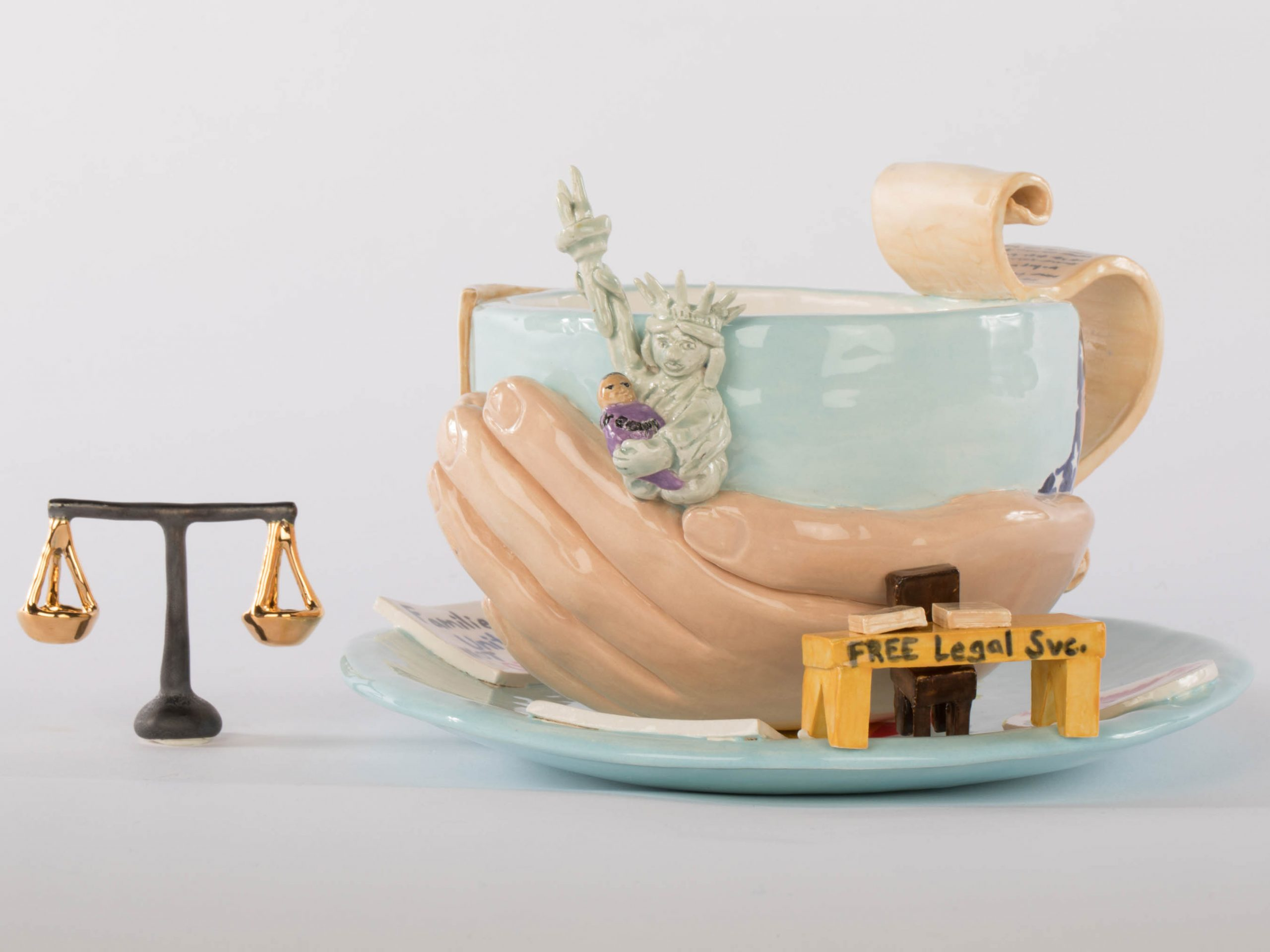 Tracey Corinne, Immigration Cup (detail)