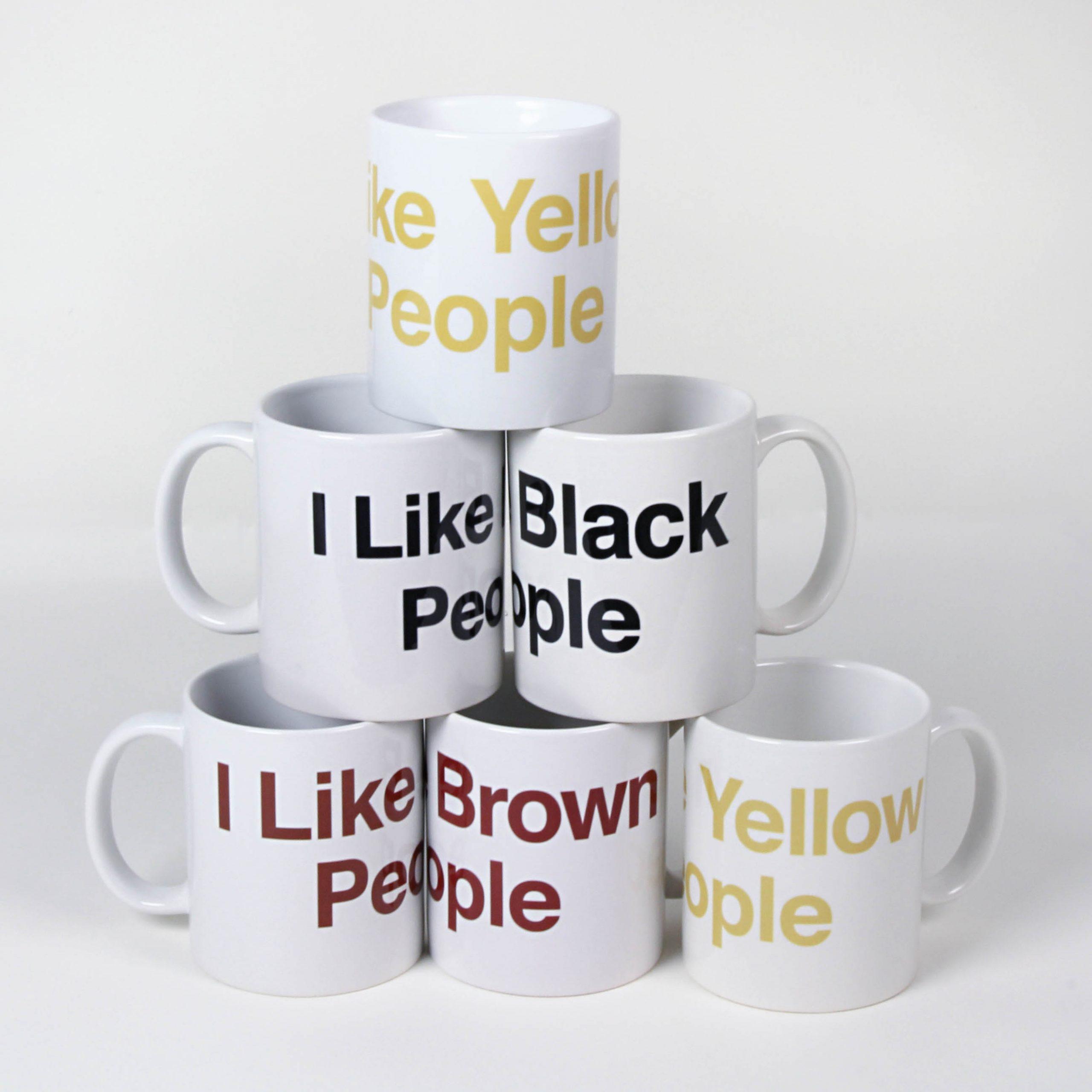 Linda Hesh, White Liberal Mugs
